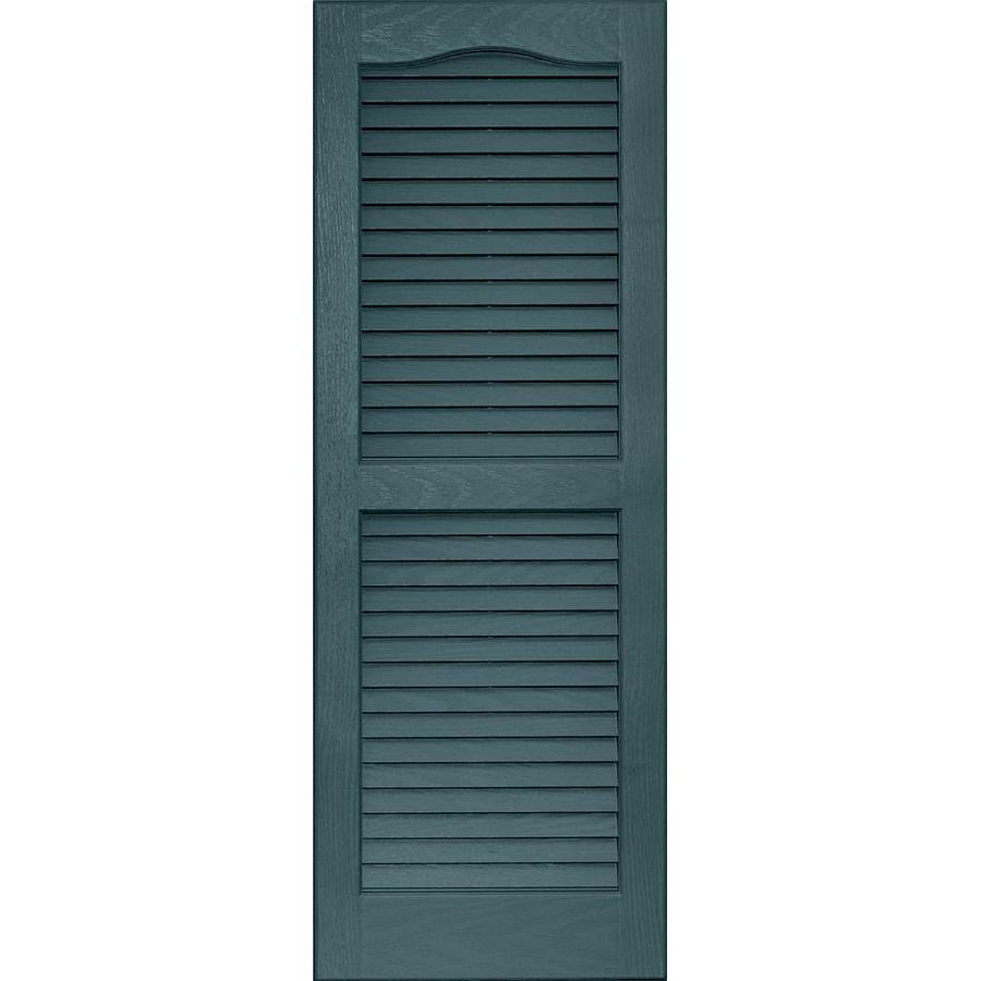 Vantage 2-Pack Wedgewood Blue Louvered Vinyl Exterior Shutters (Common: 14-in x 39-in; Actual: 13.875-in x 38.6875-in)