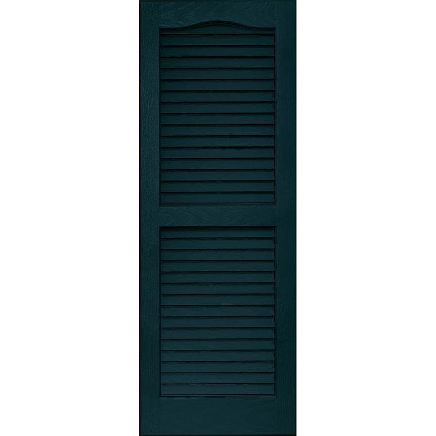Vantage 2-Pack Indigo Blue Louvered Vinyl Exterior Shutters (Common: 14-in x 39-in; Actual: 13.875-in x 38.6875-in)