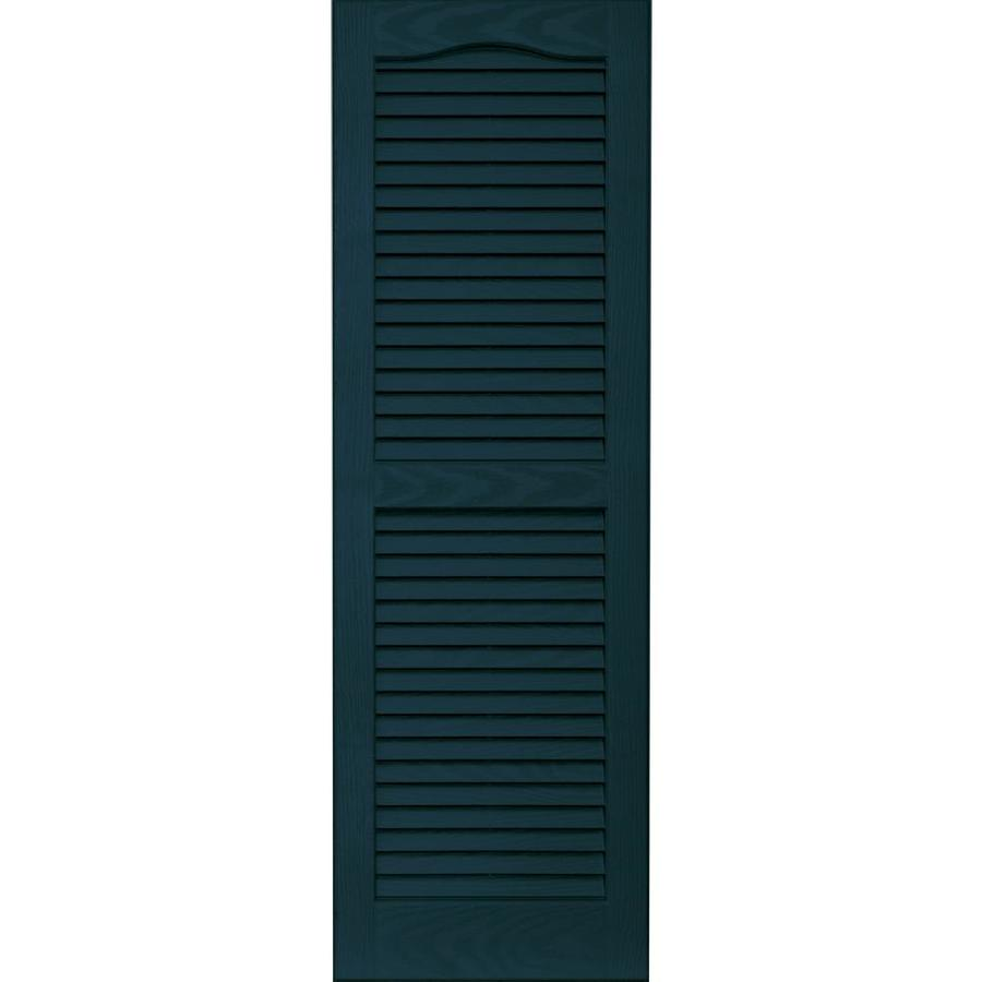 Vantage 2-Pack Indigo Blue Louvered Vinyl Exterior Shutters (Common: 14-in x 43-in; Actual: 13.875-in x 42.6875-in)