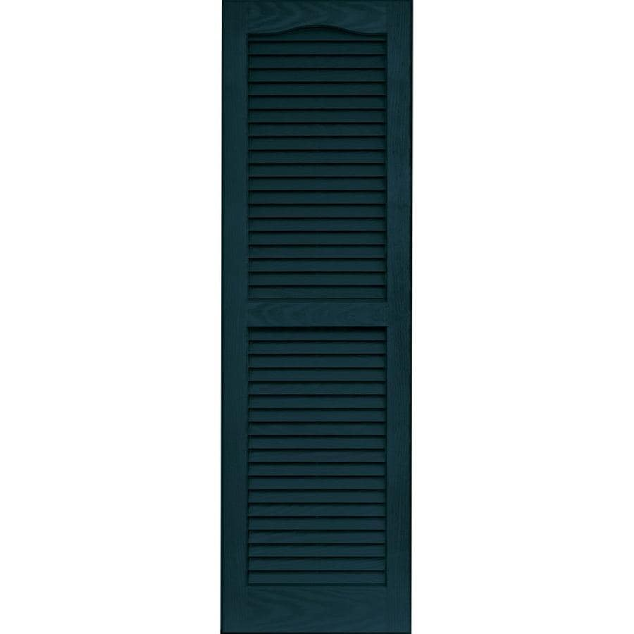 Vantage 2-Pack Indigo Blue Louvered Vinyl Exterior Shutters (Common: 14-in x 47-in; Actual: 13.875-in x 46.6875-in)