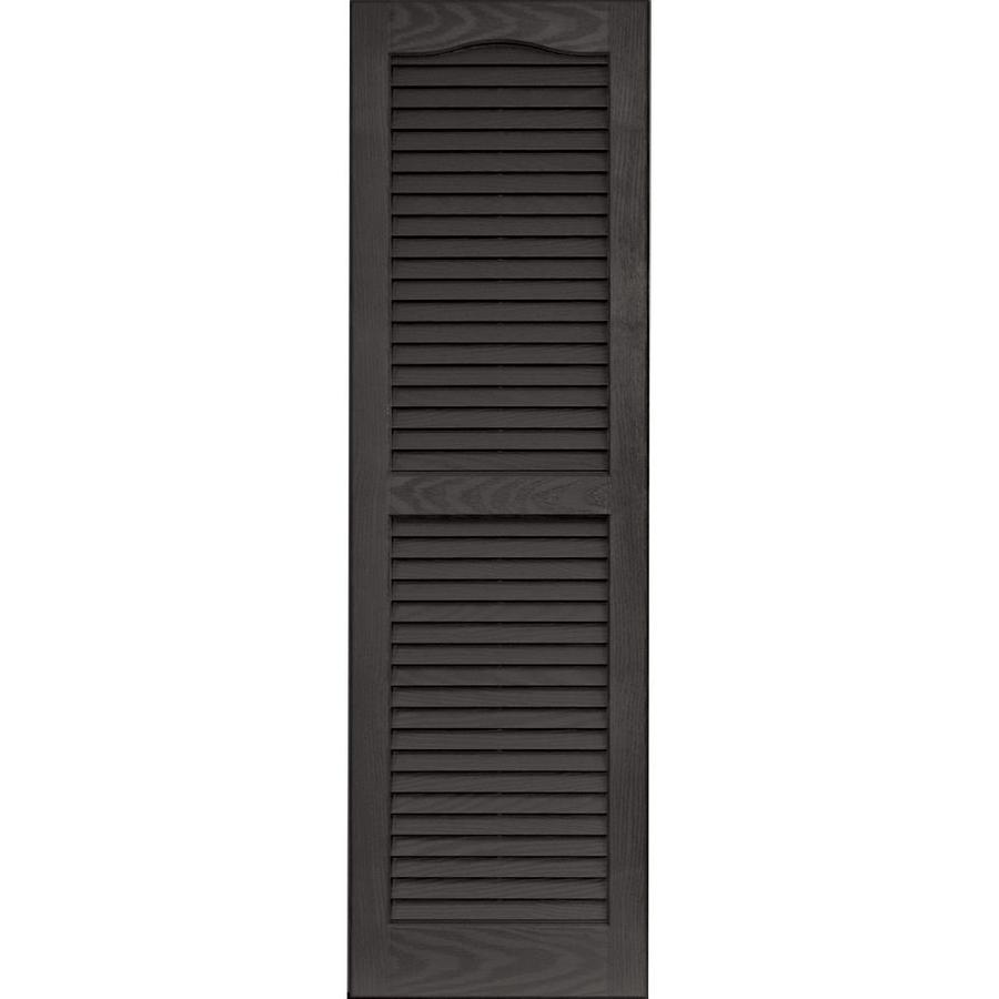 Vantage 2-Pack Charcoal Grey Louvered Vinyl Exterior Shutters (Common: 14-in x 47-in; Actual: 13.875-in x 46.6875-in)