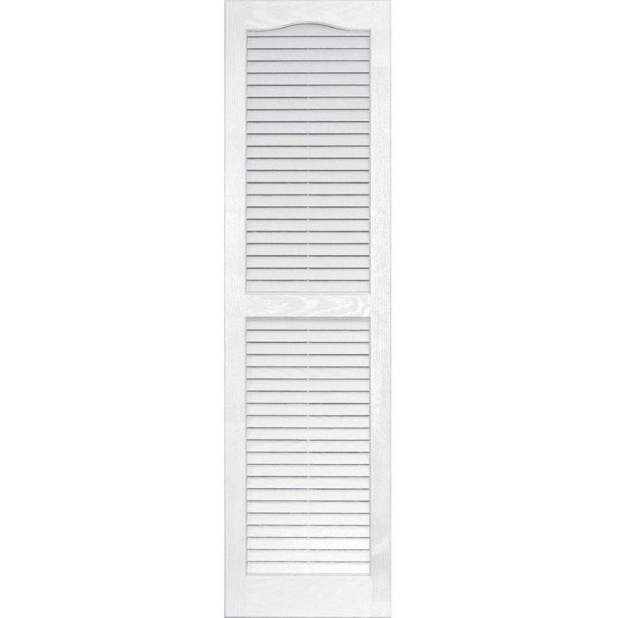 Vantage 2-Pack White Louvered Vinyl Exterior Shutters (Common: 14-in x 51-in; Actual: 13.875-in x 50.625-in)