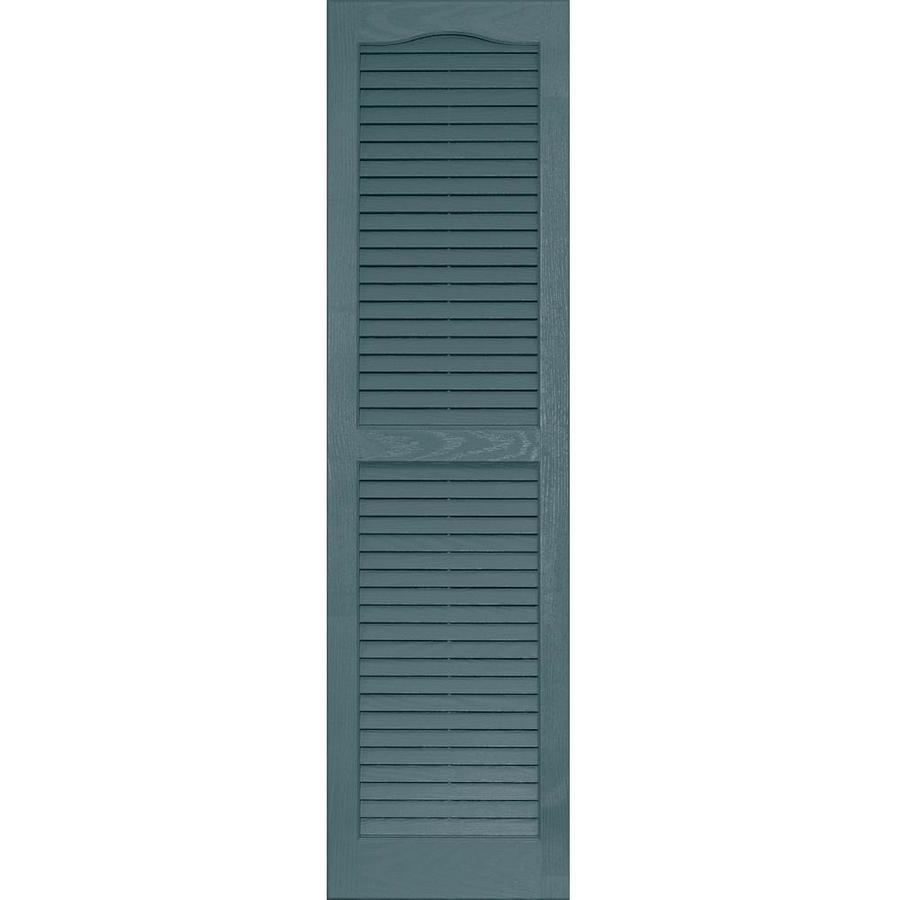 Vantage 2-Pack Wedgewood Blue Louvered Vinyl Exterior Shutters (Common: 14-in x 51-in; Actual: 13.875-in x 50.625-in)