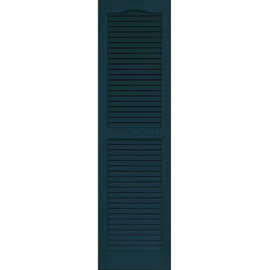 Vantage 2-Pack Indigo Blue Louvered Vinyl Exterior Shutters (Common: 14-in x 51-in; Actual: 13.875-in x 50.625-in)
