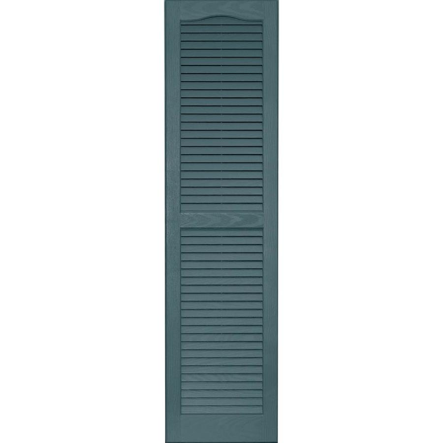 Vantage 2-Pack Wedgewood Blue Louvered Vinyl Exterior Shutters (Common: 14-in x 55-in; Actual: 13.875-in x 54.625-in)