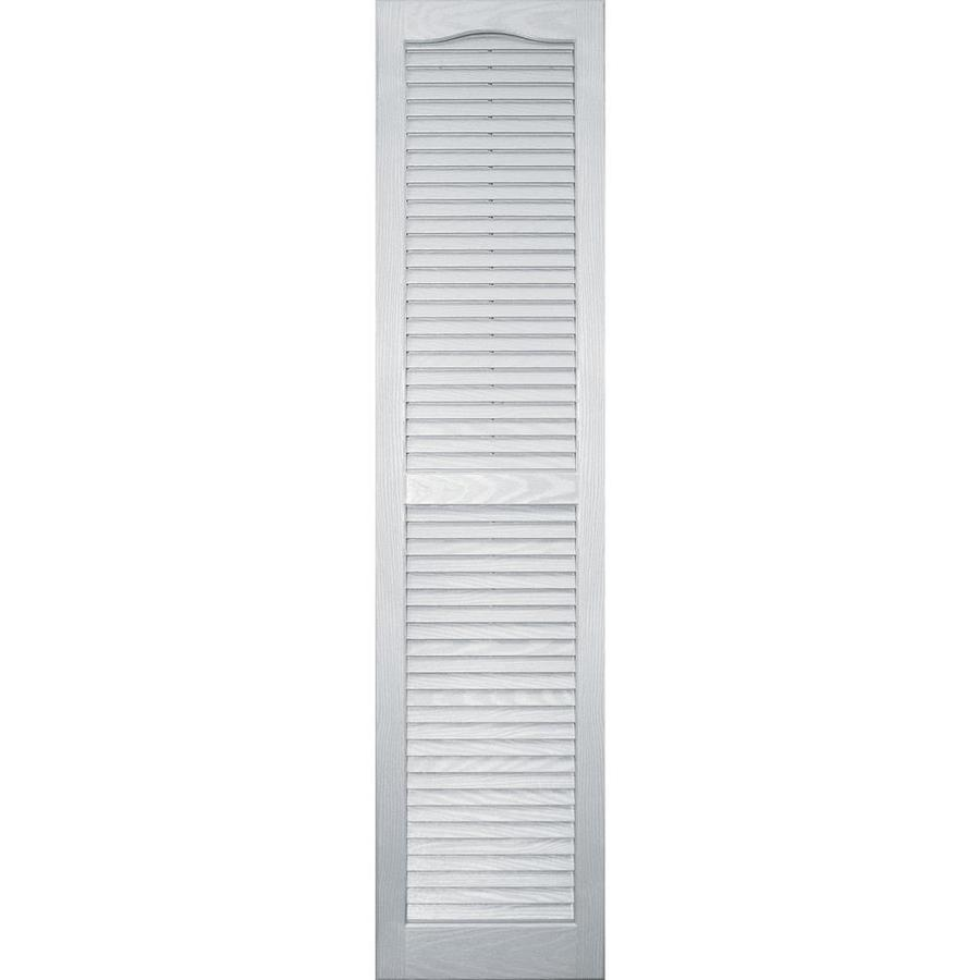 Vantage 2-Pack White Louvered Vinyl Exterior Shutters (Common: 14-in x 59-in; Actual: 13.875-in x 58.5625-in)