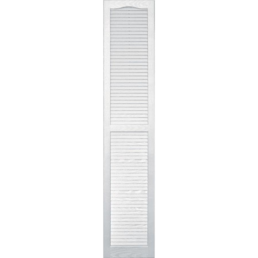 Vantage 2-Pack White Louvered Vinyl Exterior Shutters (Common: 14-in x 75-in; Actual: 13.875-in x 74.5-in)