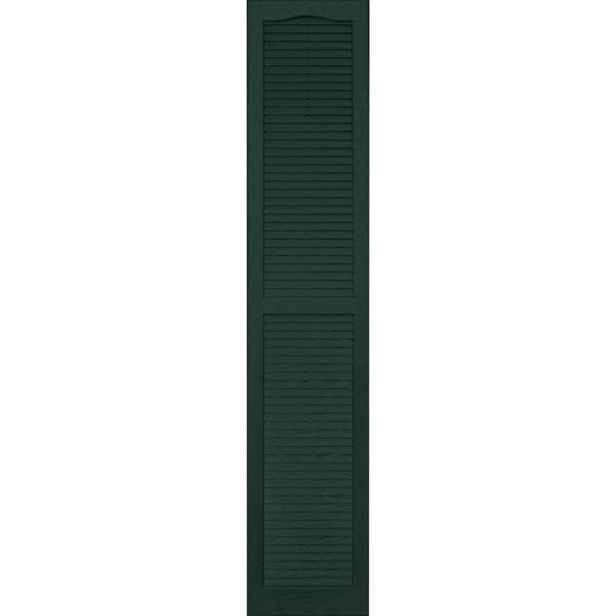 Vantage 2-Pack Midnight Green Louvered Vinyl Exterior Shutters (Common: 14-in x 75-in; Actual: 13.875-in x 74.5-in)