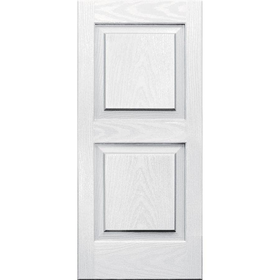 Vantage 2-Pack White Raised Panel Vinyl Exterior Shutters (Common: 14-in x 31-in; Actual: 13.875-in x 30.625-in)