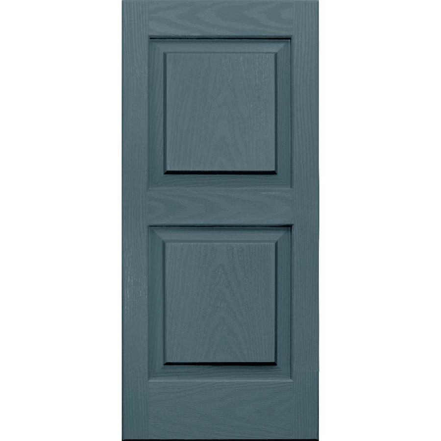 Vantage 2-Pack Wedgewood Blue Raised Panel Vinyl Exterior Shutters (Common: 14-in x 31-in; Actual: 13.875-in x 30.625-in)