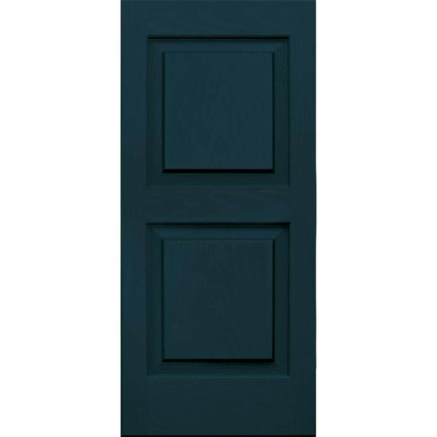 Vantage 2-Pack Indigo Blue Raised Panel Vinyl Exterior Shutters (Common: 14-in x 31-in; Actual: 13.875-in x 30.625-in)