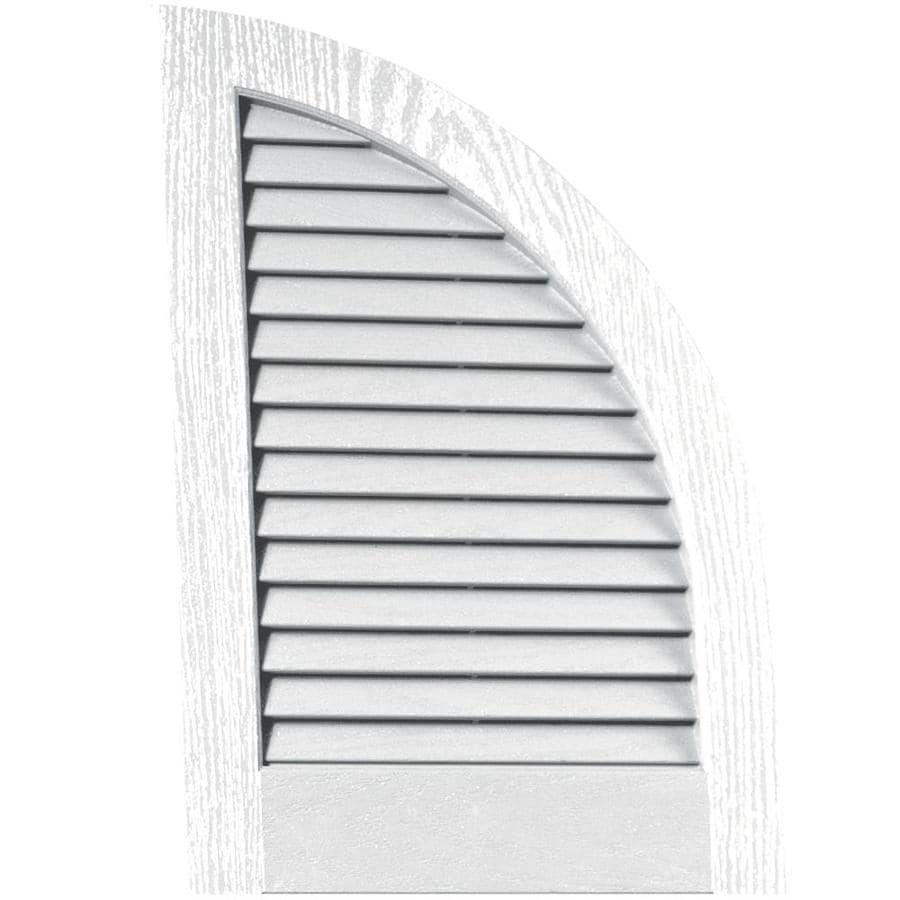 Vantage 2-Pack White Louvered Vinyl Exterior Shutters (Common: 14-in x 20-in; Actual: 13.875-in x 20.0625-in)
