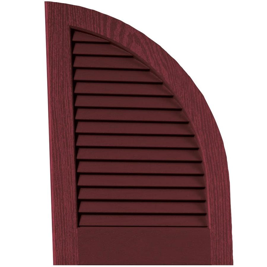 Vantage 2-Pack Cranberry Louvered Vinyl Exterior Shutters (Common: 14-in x 20-in; Actual: 13.875-in x 20.0625-in)