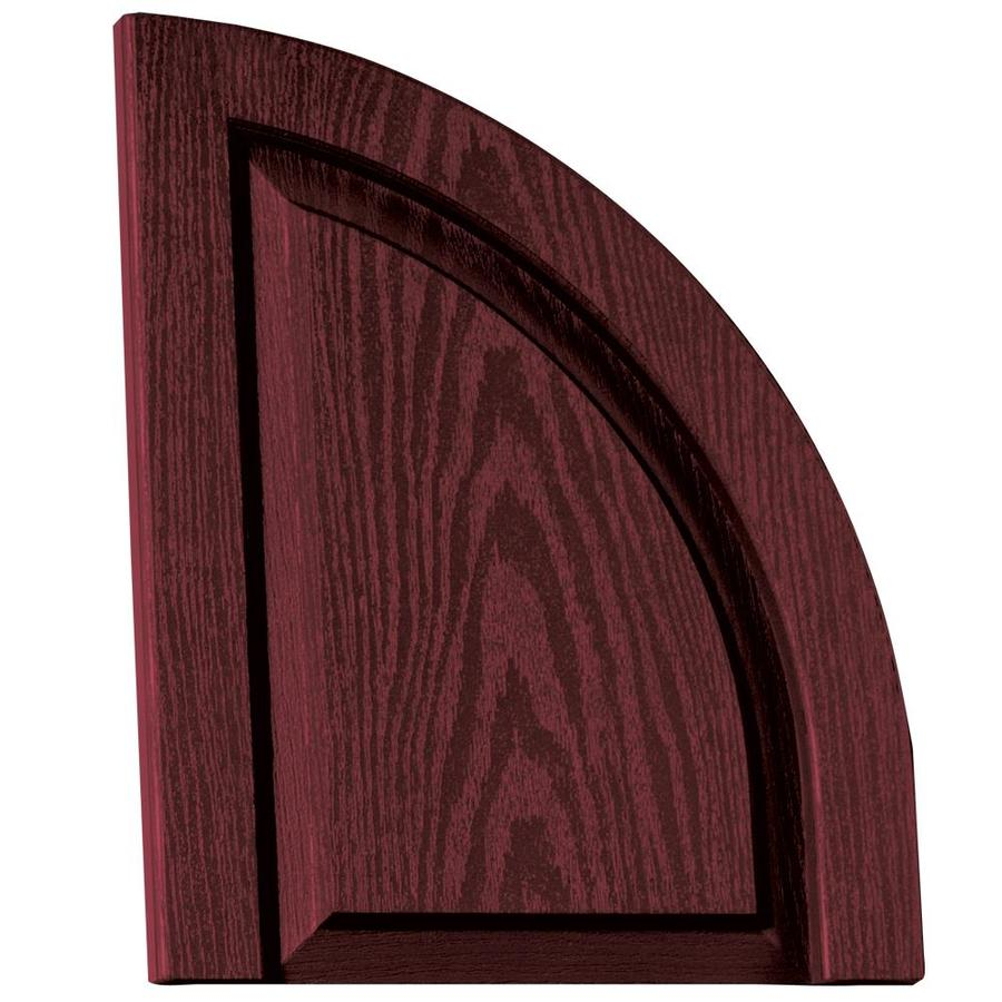 Vantage 2-Pack Cranberry Raised Panel Vinyl Exterior Shutters (Common: 14-in x 17-in; Actual: 13.875-in x 17.3125-in)