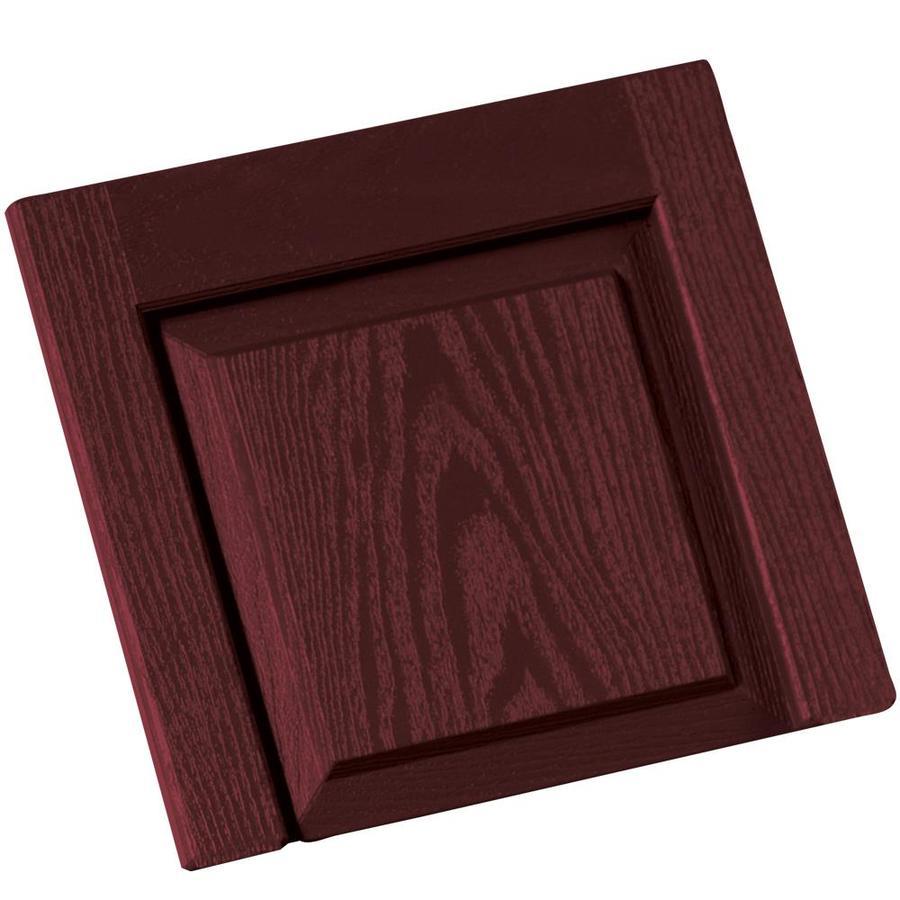 Vantage 2-Pack Cranberry Vinyl Exterior Shutters (Common: 14-in x 13-in; Actual: 13.875-in x 13.0625-in)