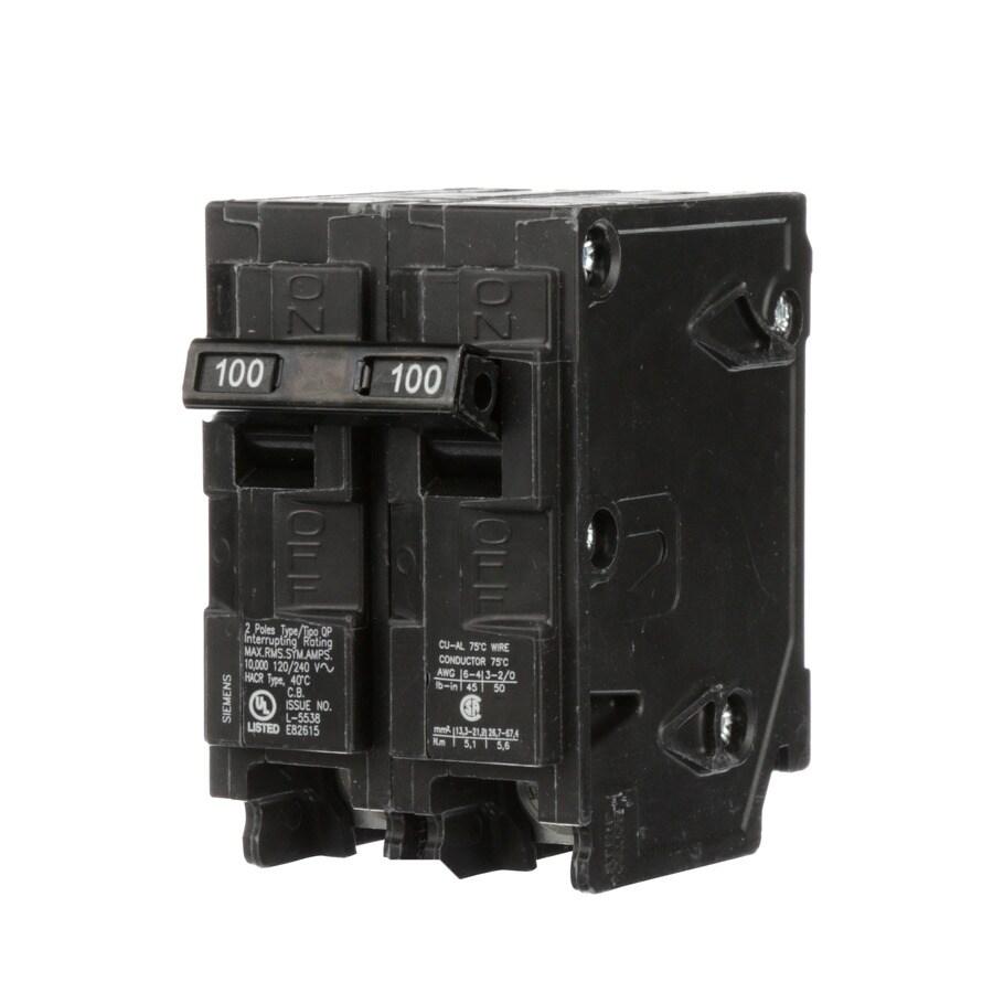 Siemens QP 100-Amp 2-Pole Double-Pole Circuit Breaker