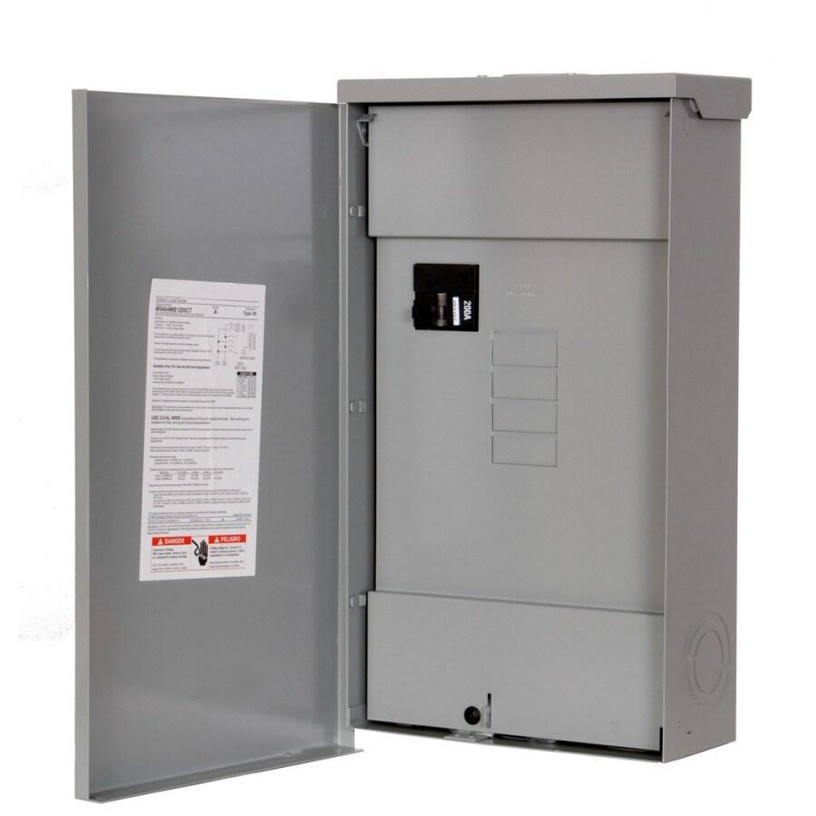 Murray 4-Circuit 2-Space 200-Amp Main Breaker Load Center