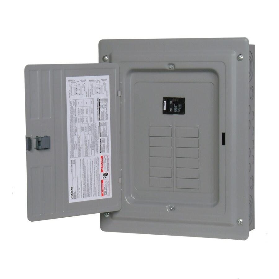 Siemens 24-Circuit 12-Space 100-Amp Main Breaker Load Center