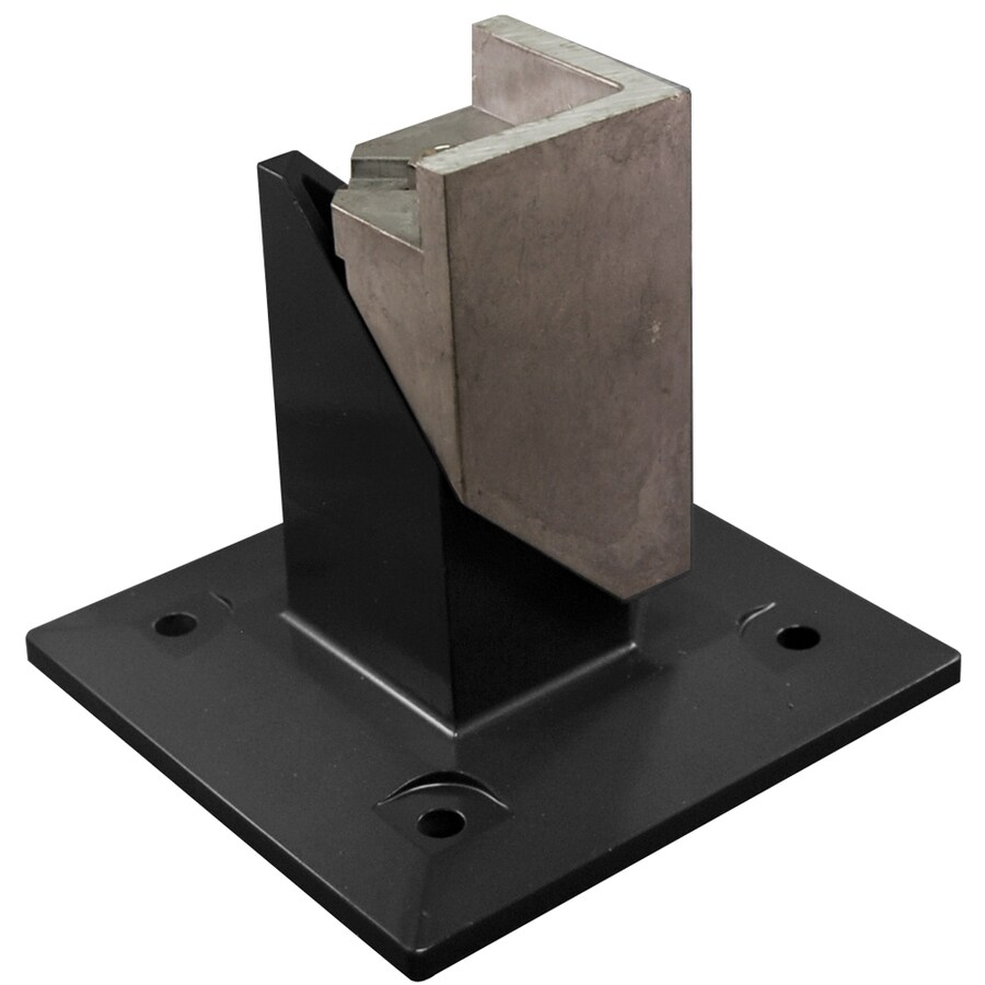 Freedom Standard Black Aluminum Fence Surface Mount
