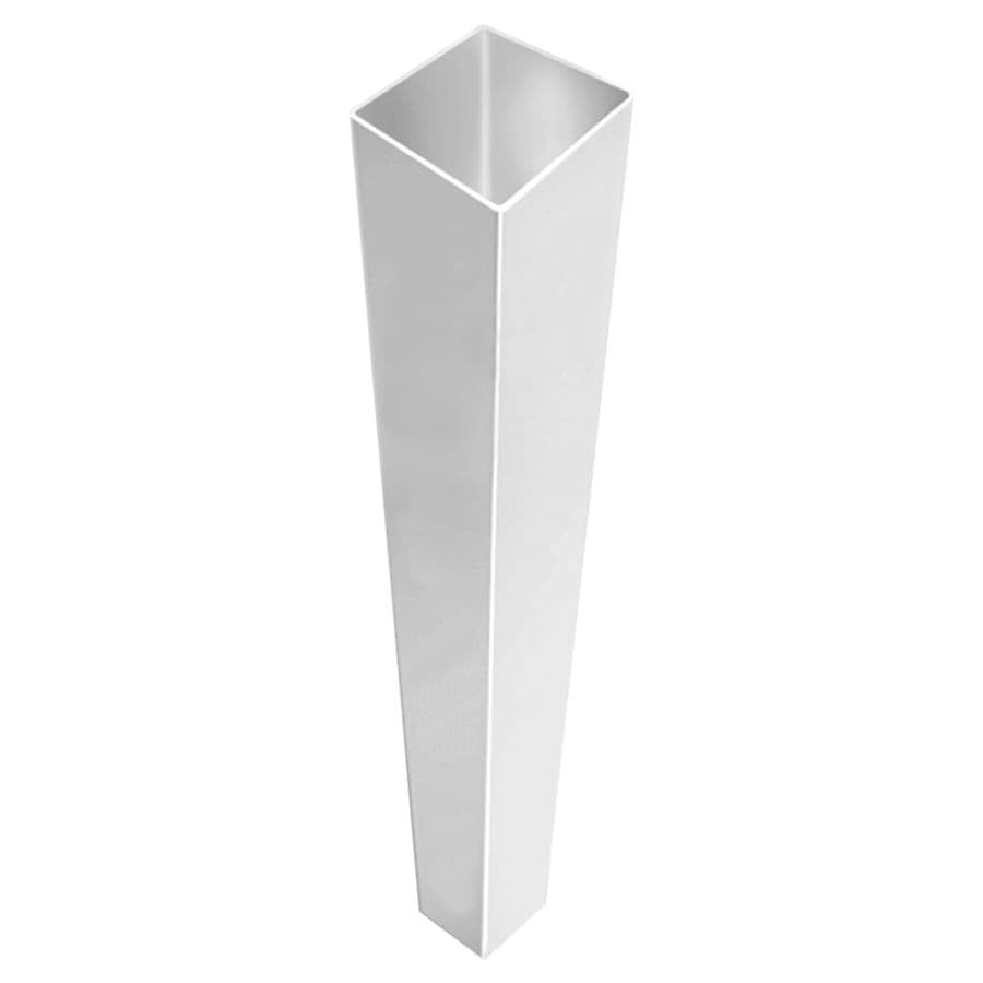 Freedom Pre-Assembled White Vinyl Fence Blank Post (Common: 4-in x 4-in x 6-ft; Actual: 4-in x 4-in x 6-ft)