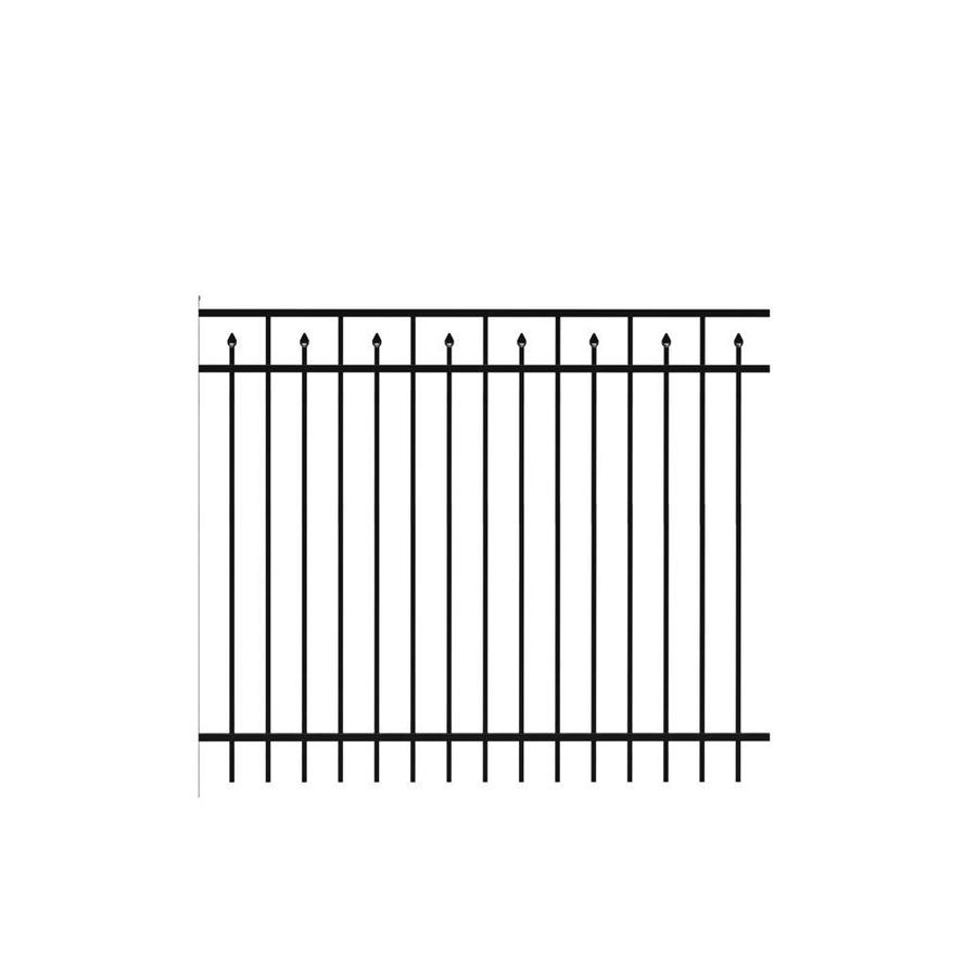Freedom Standard Concord Black Aluminum Decorative Metal Fence Panel (Common: 6-ft x 5-ft; Actual: 6.026-ft x 4.91-ft)