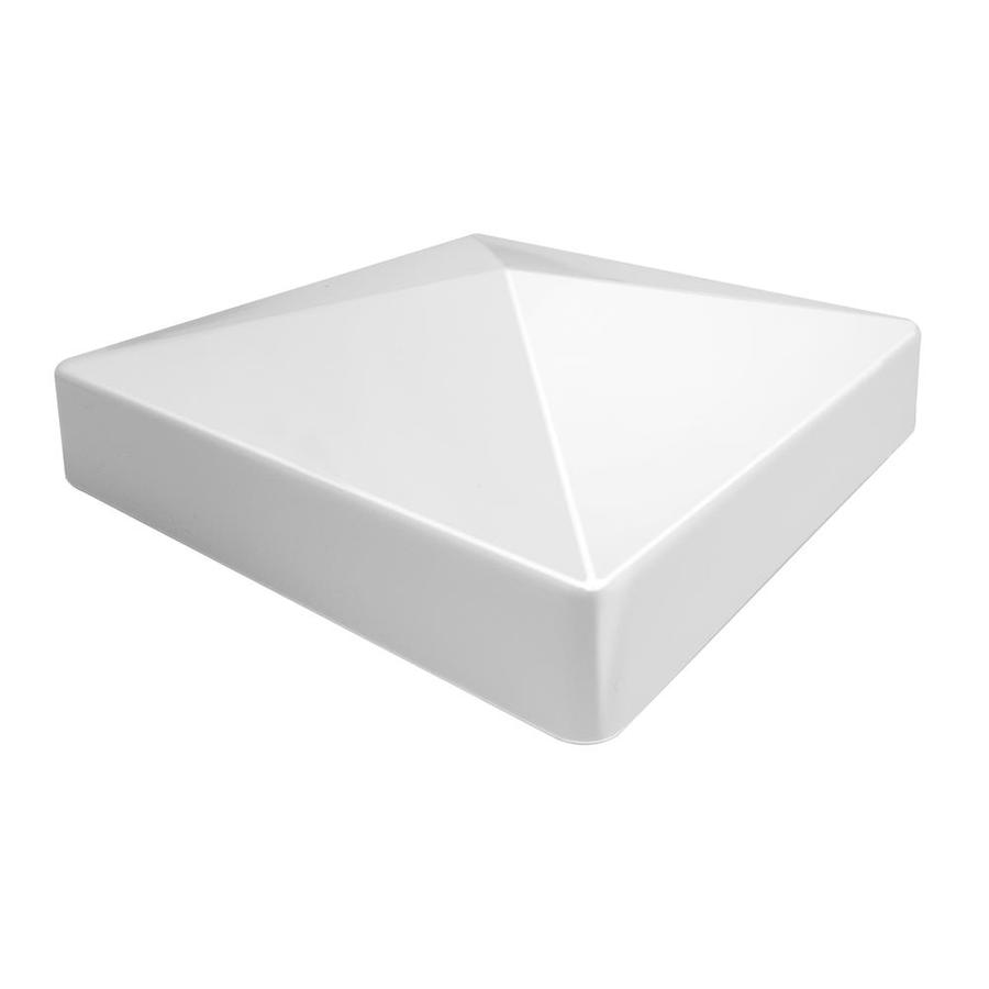 Freedom White Vinyl Fence Post Cap (Fits Common Post Measurement: 5-in; Actual: 5.17-in x 5.17-in)
