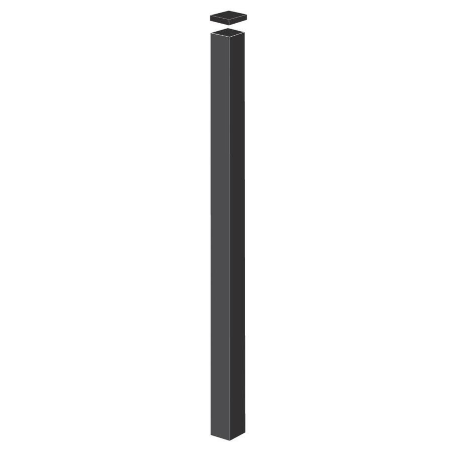 Freedom Heavy-Duty Black Aluminum Aluminum Fence Blank Post (Common: 2-1/2-in x 2-1/2-in x 7-1/2-ft; Actual: 2.4-in x 2.5-in x 7.33-ft)