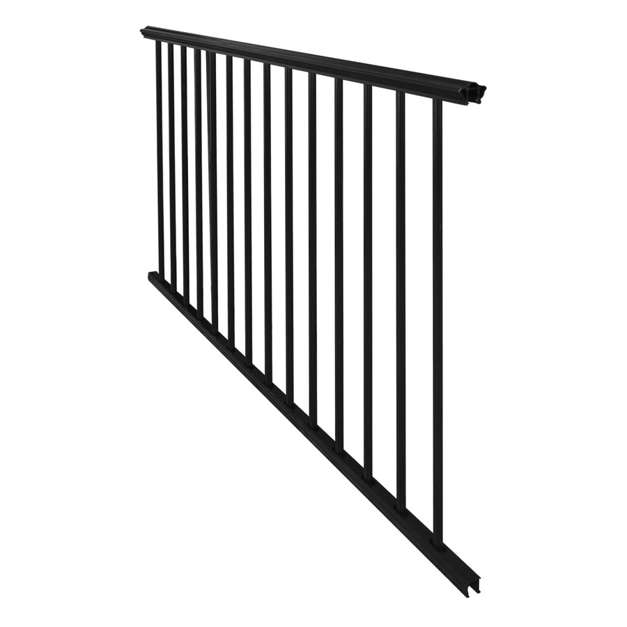 Barrette 36-in x 72-in Pewter Aluminum Porch Rail
