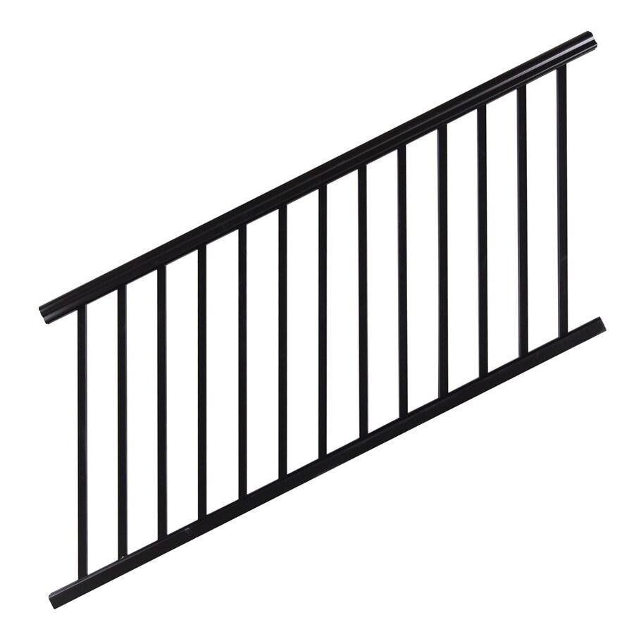 Barrette 36-in x 72-in Black Aluminum Porch Rail