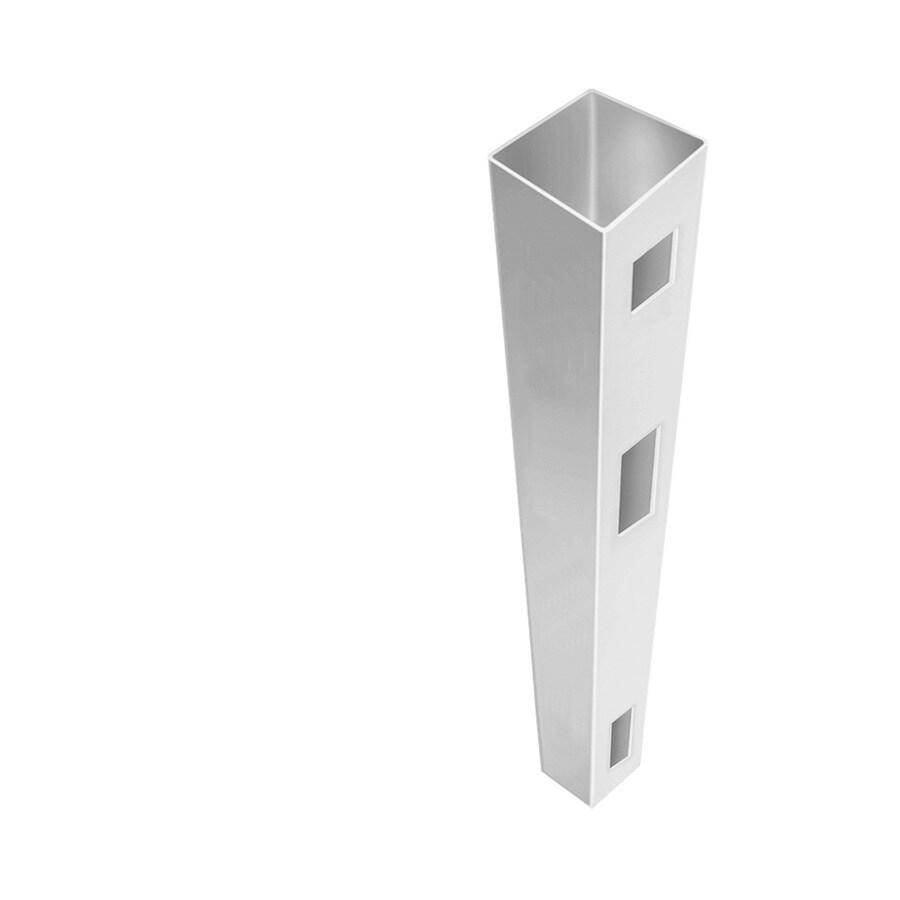 Freedom Ready-To-Assemble White Vinyl Fence End Post (Common: 5-in x 5-in x 9-ft; Actual: 5-in x 5-in x 9-ft)