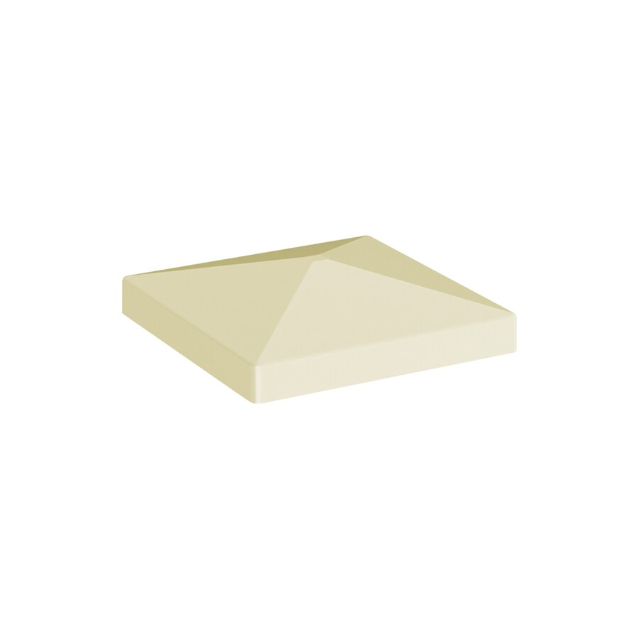 Freedom Sand Vinyl Fence Post Cap (Fits Common Post Measurement: 4-in; Actual: 4.125-in x 4.125-in)