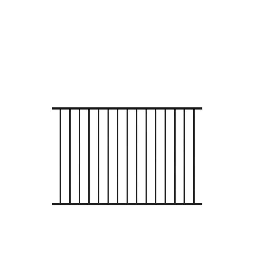Freedom Standard Easton Black Aluminum Decorative Metal Fence Panel (Common: 6-ft x 4-ft; Actual: 6.02-ft x 4-ft)