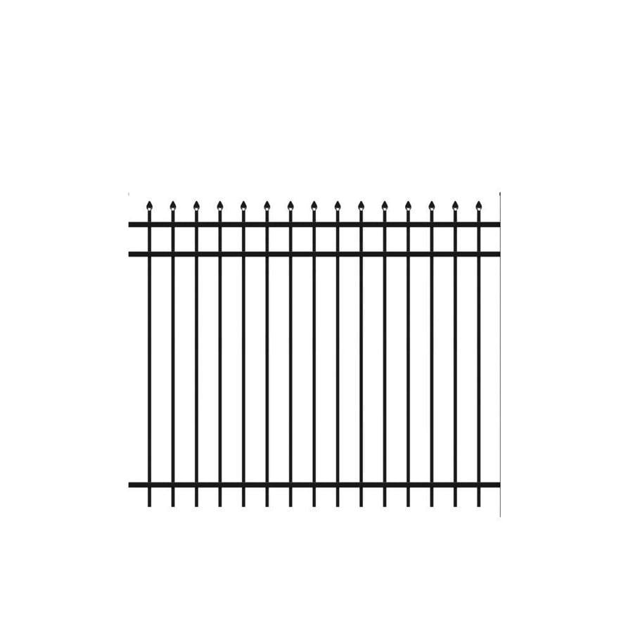Freedom Standard Providence Black Aluminum Decorative Metal Fence Panel (Common: 6-ft x 5-ft; Actual: 6.02-ft x 4.89-ft)