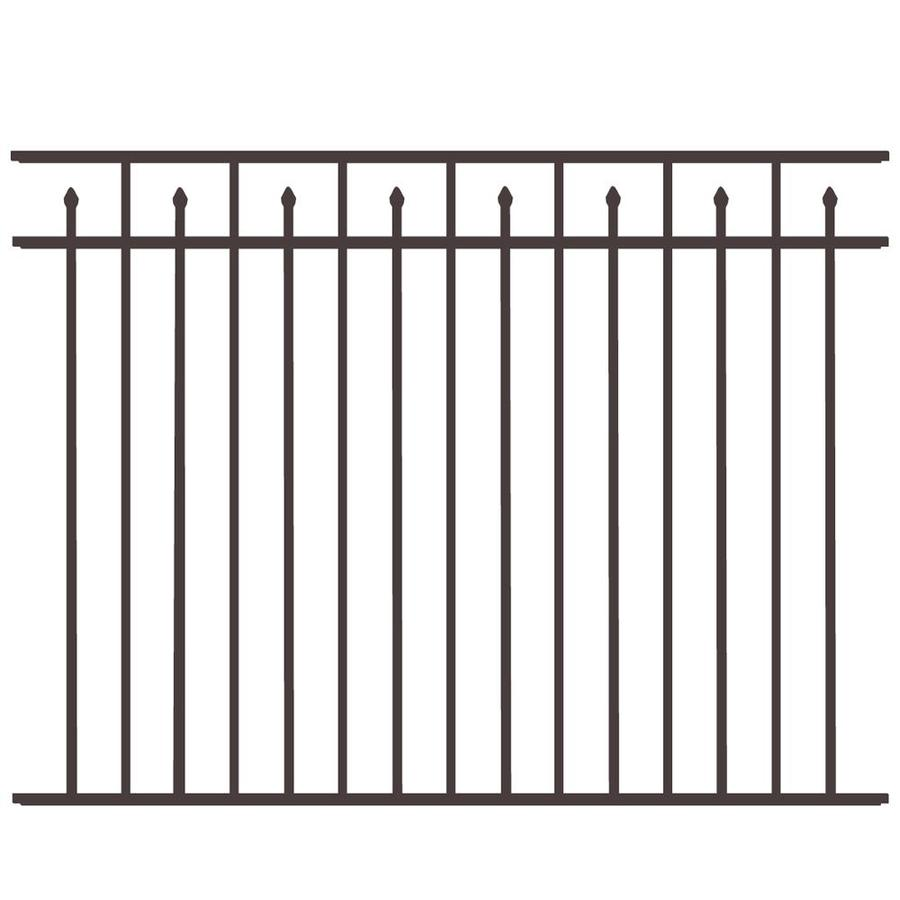 Freedom Standard Concord Black Aluminum Decorative Metal Fence Panel (Common: 6-ft x 4.5-ft; Actual: 6.02-ft x 4.5-ft)