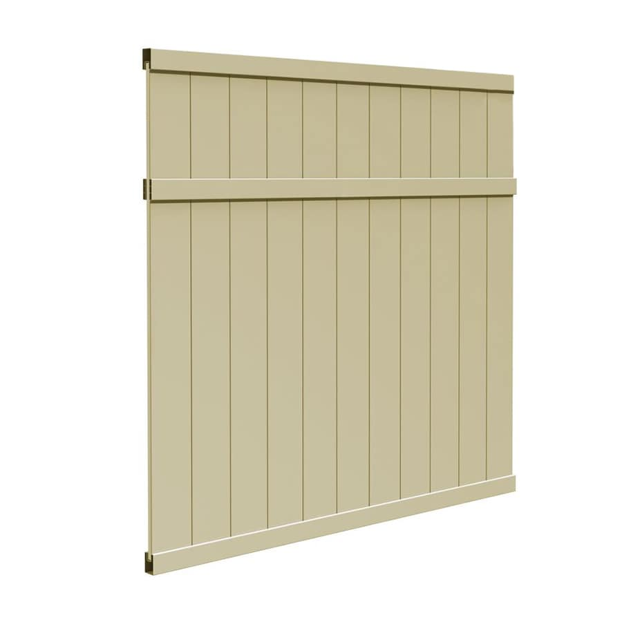 Freedom Pre-Assembled Brighton Desert Sand Vinyl Privacy Fence Panel (Common: 6-ft x 6-ft; Actual: 5.45-ft x 5.66-ft)