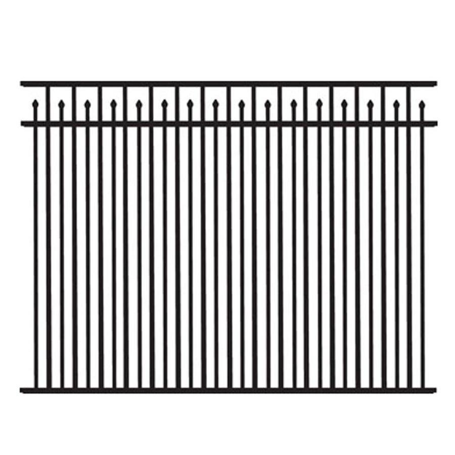 Freedom Standard York Black Aluminum Decorative Metal Fence Panel (Common: 6-ft x 4.5-ft; Actual: 6.02-ft x 4.5-ft)