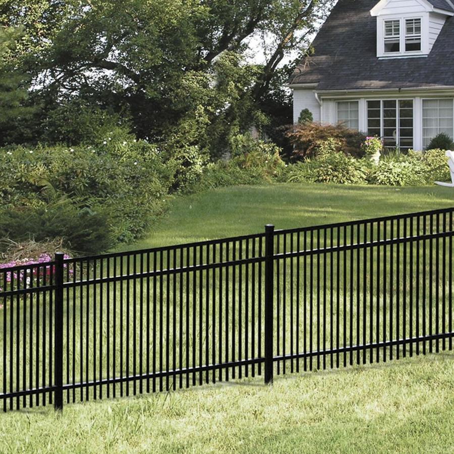 Freedom Standard York Black Aluminum Decorative Metal Fence Panel (Common: 6-ft x 6-ft; Actual: 6.02-ft x 5.91-ft)