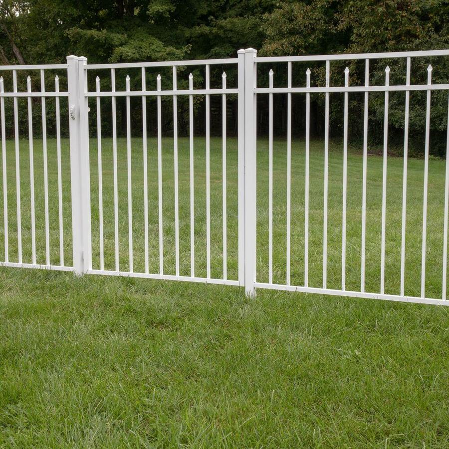 Freedom Standard Concord White Aluminum Decorative Metal Fence Panel (Common: 6-ft x 4.5-ft; Actual: 6.02-ft x 4.5-ft)