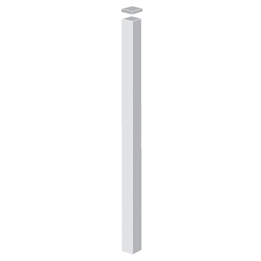 Freedom Standard White Aluminum Decorative Metal Fence Blank Post (Common: 2-in x 2-in x 9-ft; Actual: 2-in x 2-in x 8.83-ft)