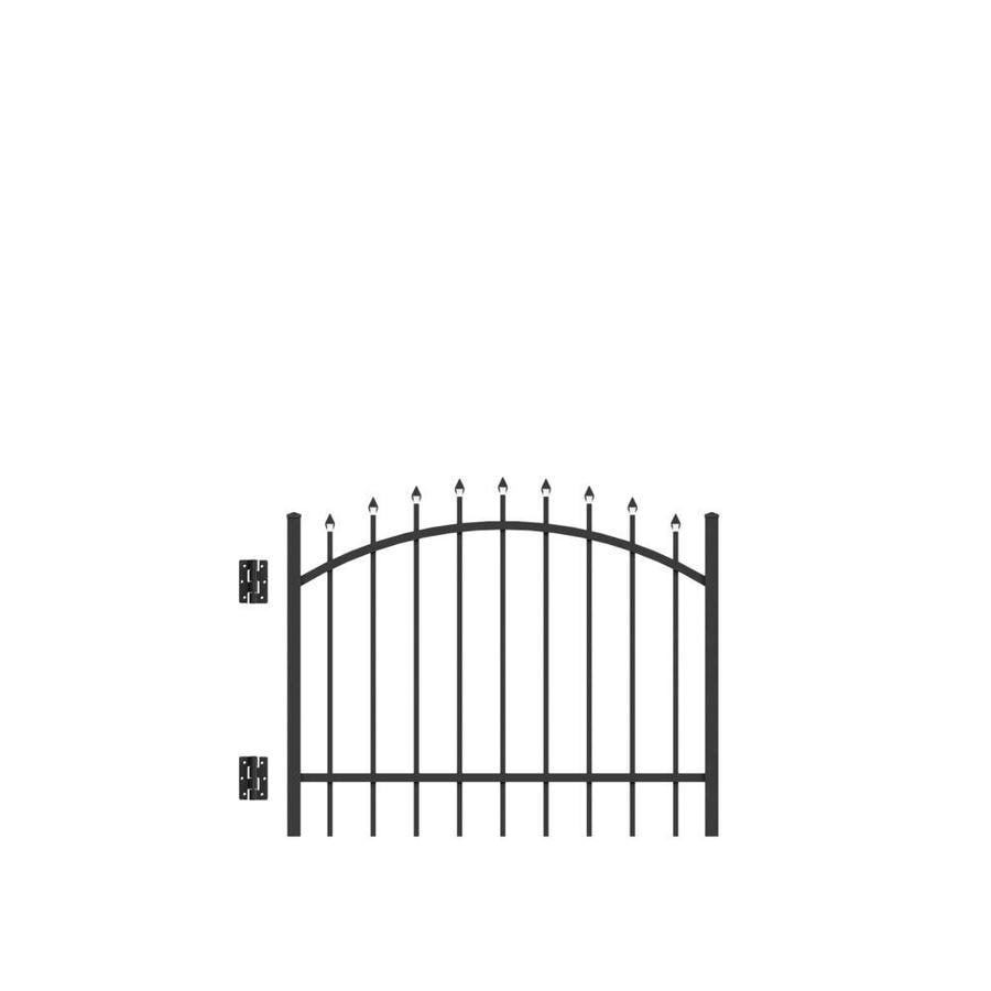 Freedom Providence Black Aluminum Decorative Fence Gate (Common: 4-ft x 3-ft; Actual: 3.875-ft x 2.88-ft)