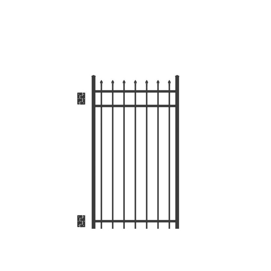 Freedom Providence Black Aluminum Decorative Fence Gate (Common: 3-ft x 5-ft; Actual: 2.875-ft x 5.02-ft)