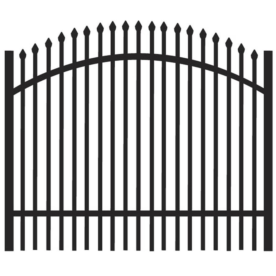 Freedom Oxford Black Aluminum Decorative Fence Gate (Common: 4-ft x 3-ft; Actual: 3.875-ft x 2.88-ft)
