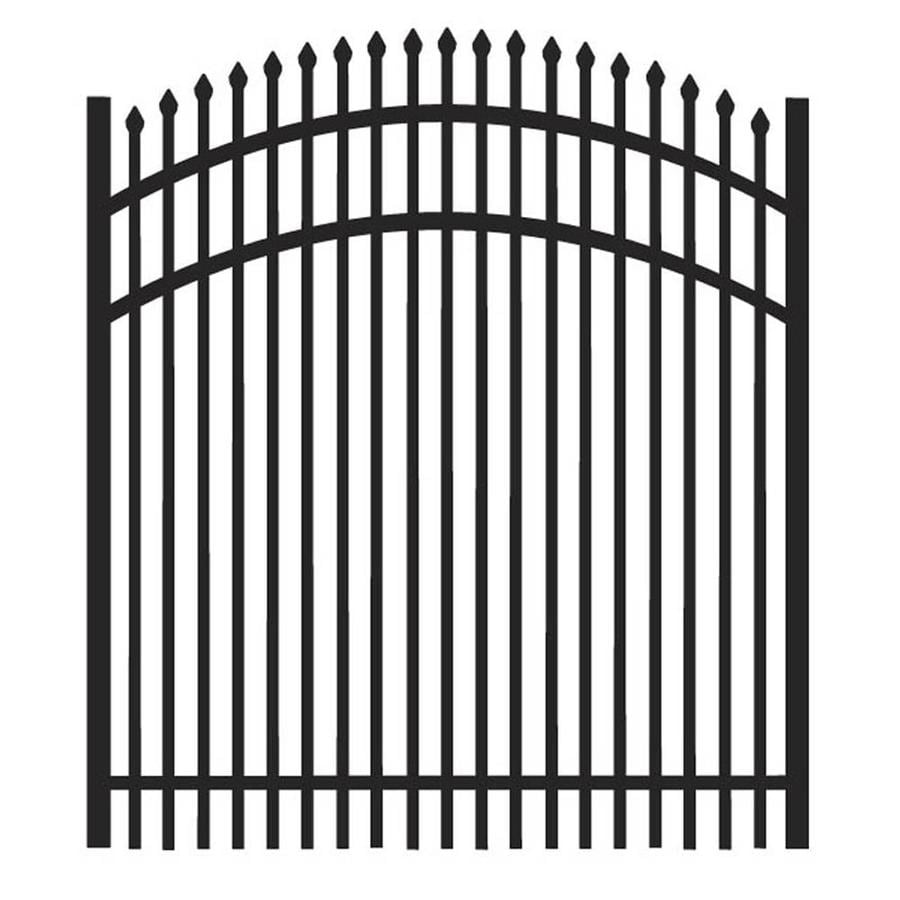 Freedom Oxford Black Aluminum Decorative Fence Gate (Common: 4-ft x 4-ft; Actual: 3.875-ft x 4.02-ft)