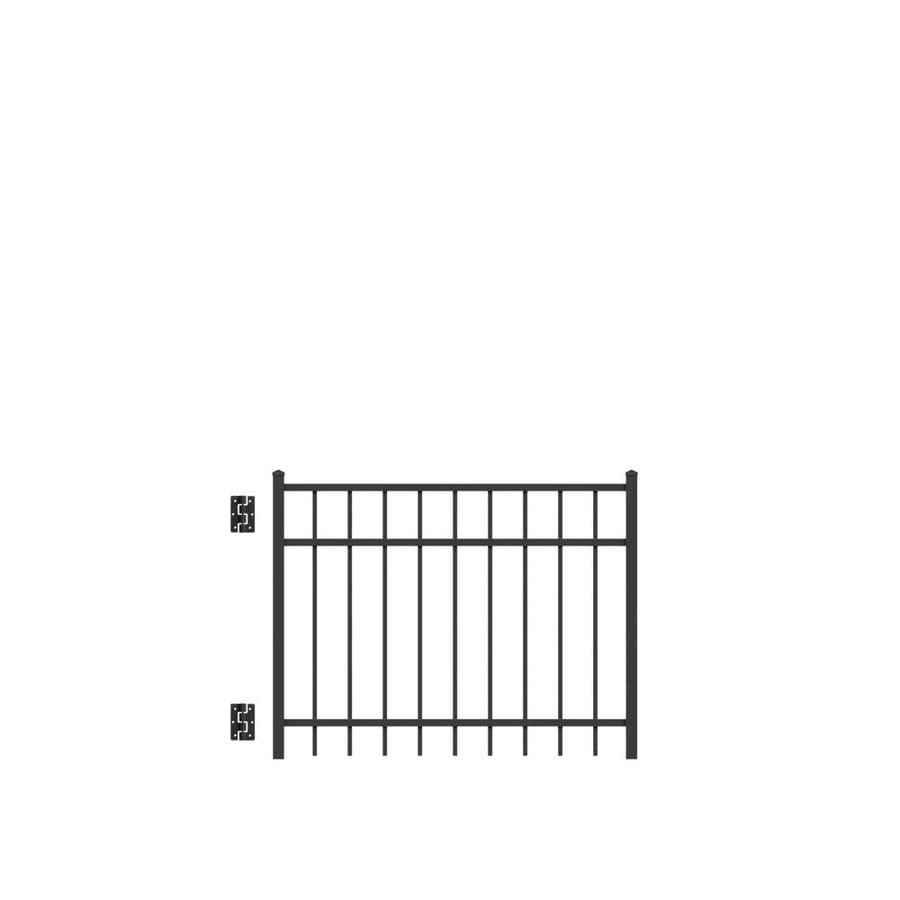 Freedom New Haven Black Aluminum Decorative Fence Gate (Common: 4-ft x 3-ft; Actual: 3.875-ft x 3.04-ft)