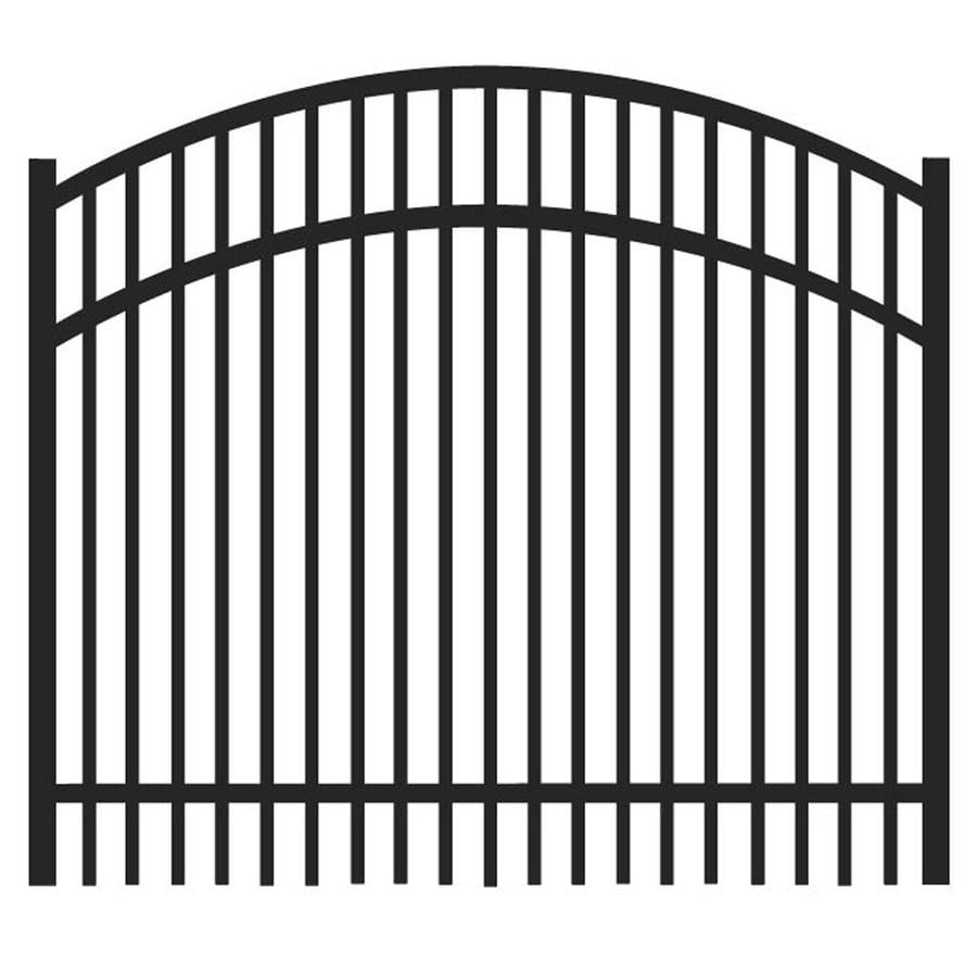 Freedom Sheffield Black Aluminum Decorative Fence Gate (Common: 4-ft x 3-ft; Actual: 3.875-ft x 3.04-ft)