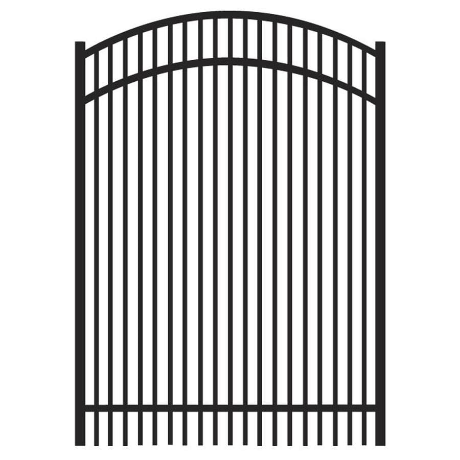 Freedom Sheffield Black Aluminum Decorative Fence Gate (Common: 4-ft x 5-ft; Actual: 3.875-ft x 5.04-ft)