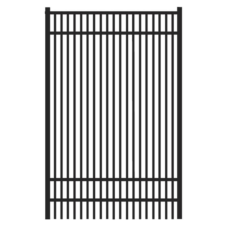 Freedom Sheffield Black Aluminum Decorative Fence Gate (Common: 4-ft x 6-ft; Actual: 3.875-ft x 6.04-ft)