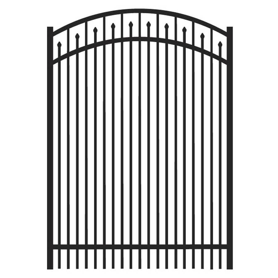 Freedom York Black Aluminum Decorative Fence Gate (Common: 4-ft x 5-ft; Actual: 3.875-ft x 5.04-ft)