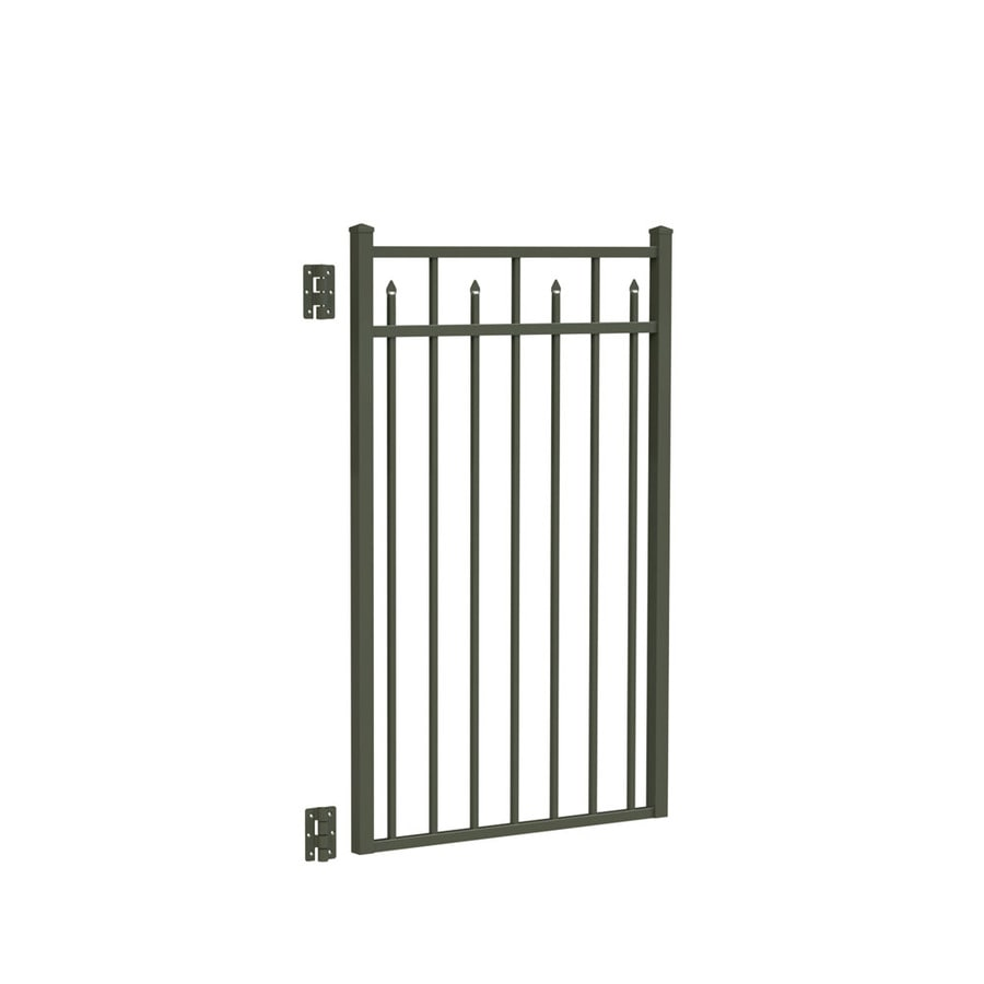 Freedom Concord Pewter Aluminum Decorative Fence Gate (Common: 3-ft x 4.5-ft; Actual: 2.875-ft x 4.625-ft)