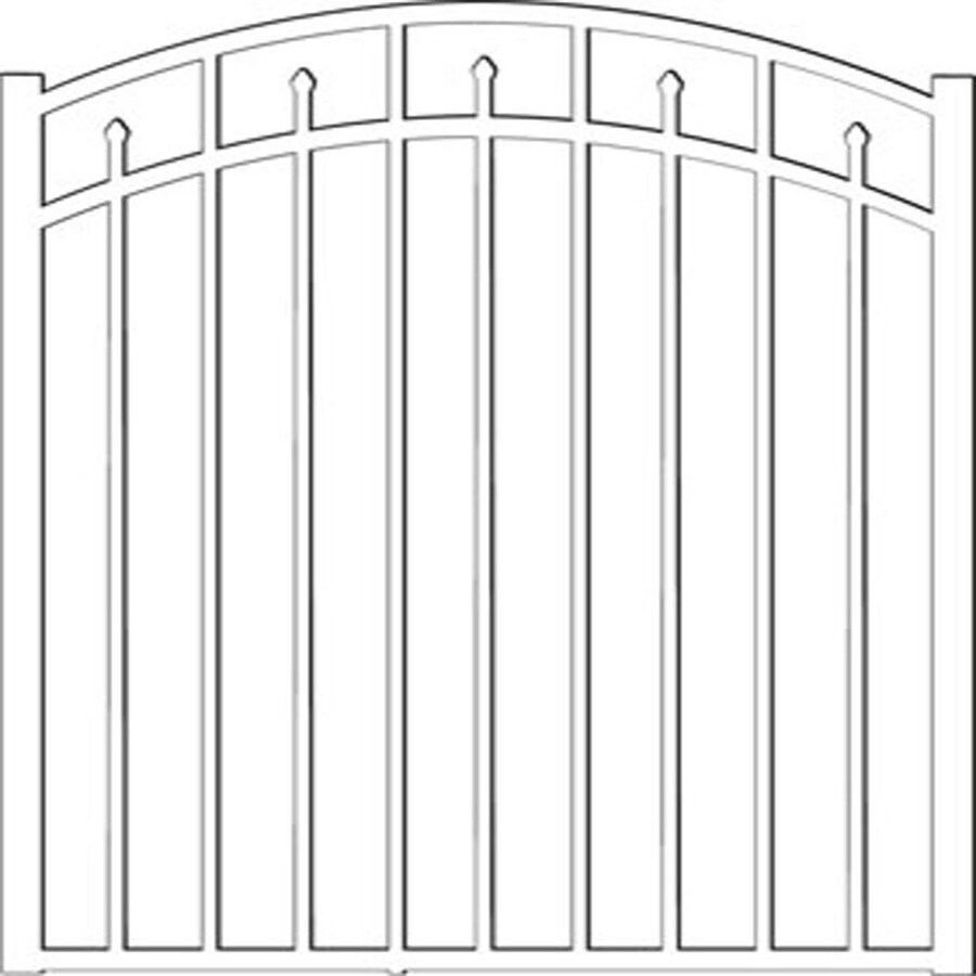 Freedom Concord White Aluminum Decorative Fence Gate (Common: 4-ft x 4.5-ft; Actual: 3.875-ft x 4.625-ft)